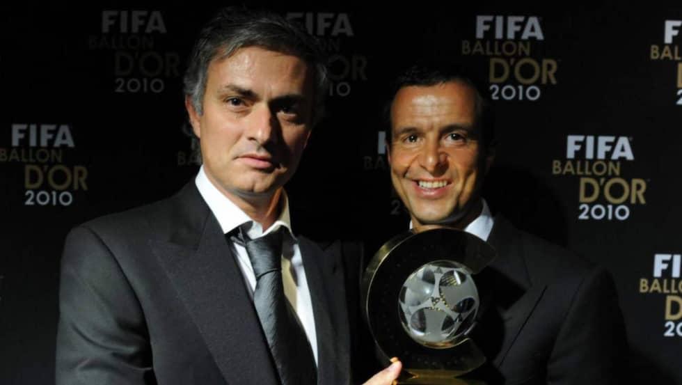 José Mourinho och Jorge Mendes. Foto: All Over Press