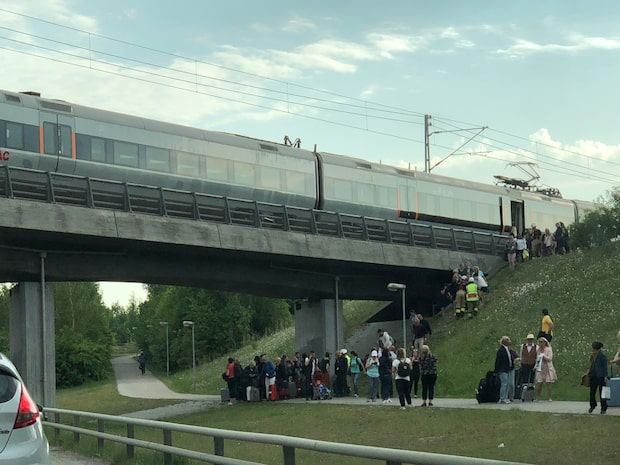 """Linus befann sig på tåget: """"Folk var panikslagna"""""""