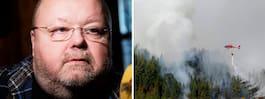 """Moraeus kan hotas av skogs- branden: """"Känner massa röklukt"""""""