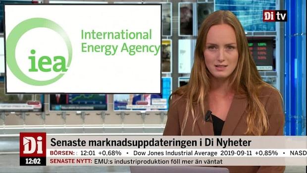 Di Nyheter - IEA beräknar att den globala efterfrågan på olja ökar