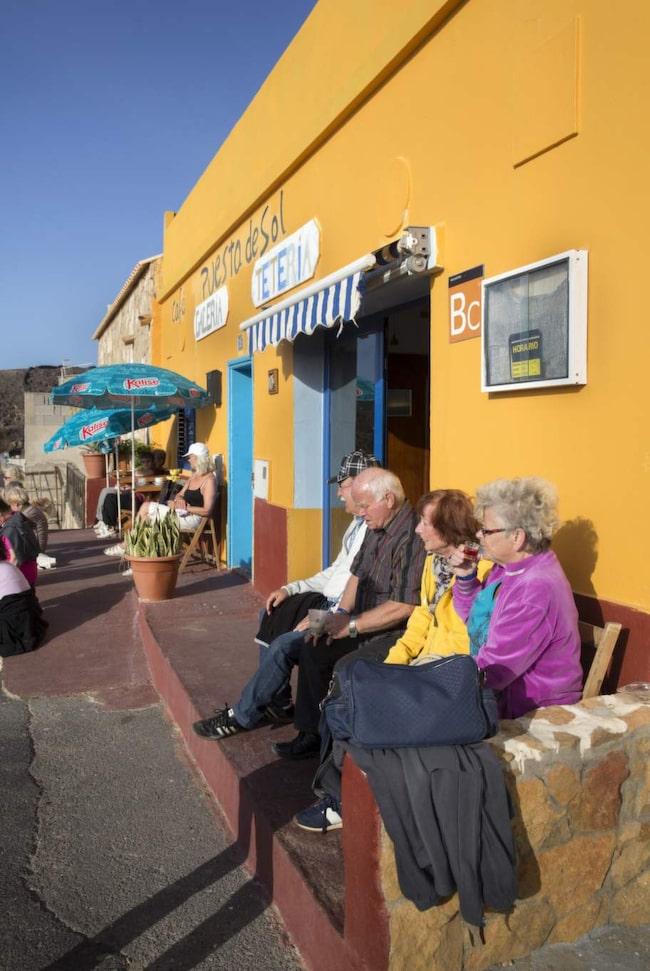 En kopp kaffe på Puesta del Sol.