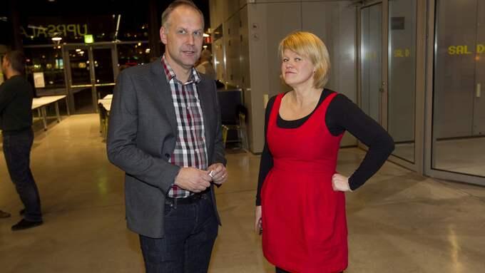 Vänsterpartiets partiledare Jonas Sjöstedt och ekonomisk-politiska talesperson Ulla Andersson. Foto: SVEN LINDWALL