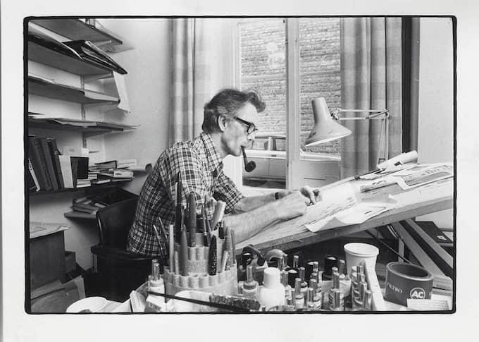 Torsten Barkstedt ritade Getingen 1961. Foto: Expressen