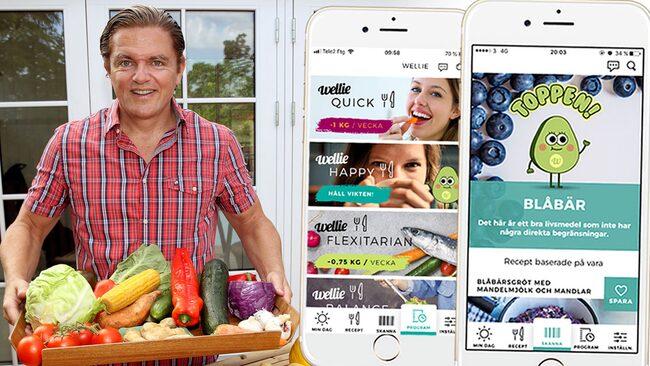 """Näringsfysiolog Fredrik Paulún är den som står bakom matfilosofin i den nya hälsoappen Wellie. Grundtanken är enkel: Fokusera på bra råvaror och slipp räkna kalorier. """"Ät dig mätt på bra livsmedel - det är det som funkar på sikt""""."""