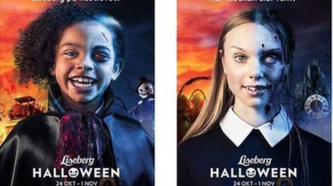 Det var den här kampanjen som väckte ilska bland en del föräldrar, som ansåg att bilderna ser ut som barn som blivit misshandlade. Foto: Liseberg Liseberg