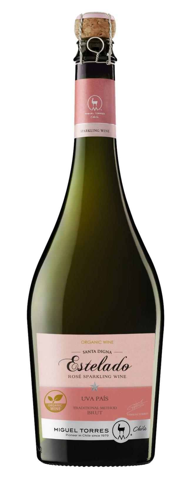 """Mousserande<br><span class=""""wasp-icon""""></span><span class=""""wasp-icon""""></span><span class=""""wasp-icon""""></span><br><strong>Estelado Rosé Sparkling Wine (7475) Chile, 87 kr</strong><br>Ekologiskt rosébubbel i lättsam stil. Inslag av smultron och citrus i torr och syrlig stil. God som drink tillsammans med laxsnittar."""