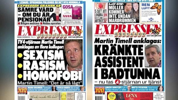 """Kritiken mot TV4 efter Timell-skandalen: """"Väldigt dåligt"""""""