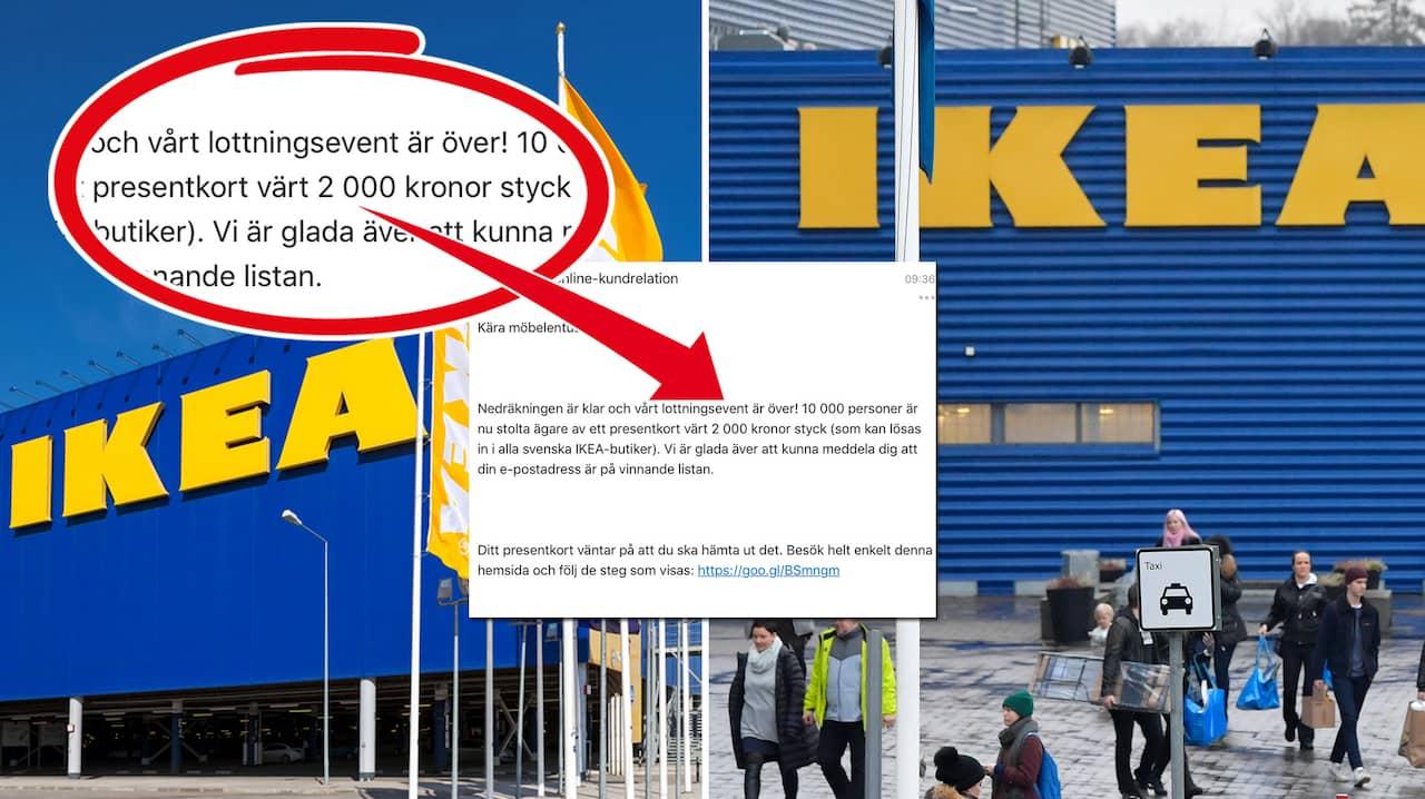 Bedragare blåser offer med Ikea-presentkort 4cd9c2d9d84de