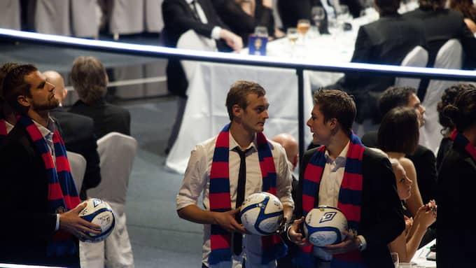 HIF-spelarna på Fotbollsgalan 2010. Foto: SARA STRANDLUND
