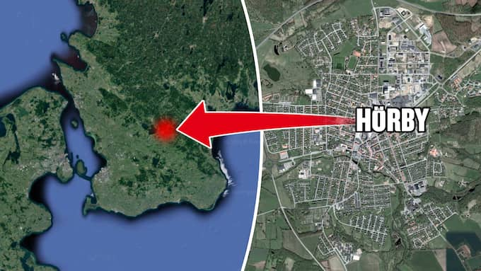 Händelsen inträffade i Hörby förra året. Foto: Google maps