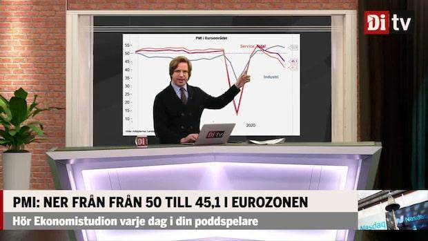 PMI: Ner från 50 till 45,1 i eurozonen