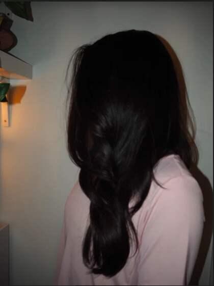 Cristina överfölls i sin trappuppgång. Foto: Privat