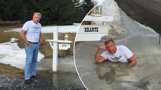 Se Lars-Åkes iskalla protest mot usla vägen