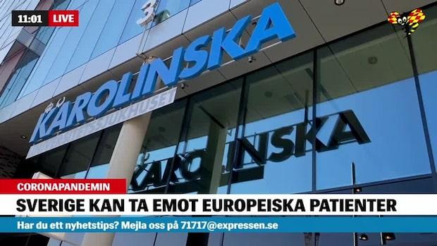 Karolinska kan ta emot patienter från Europa