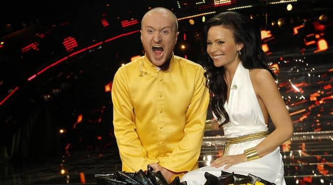 The Moniker och Sara Varga klarade av Andra chansen - och tog sig till schlagerfinalen i Globen. Foto: Sven Lindwall