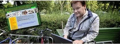 Michael Sörensen blev bestulen på sin fina cykel - startade ny sajt. Foto: Christer Wahlgren