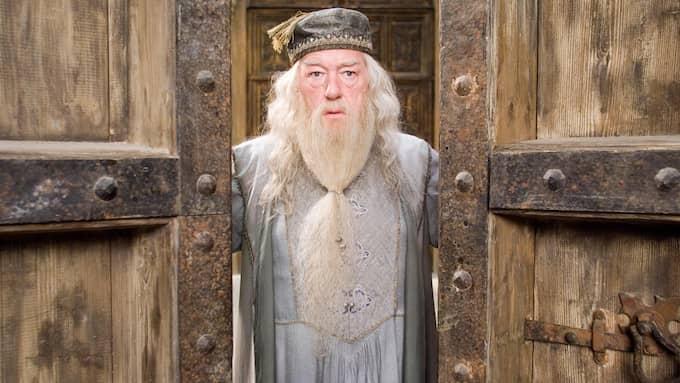 Albus Dumbledore, trollkarlsskolan Hogwarths rektor i Harry Potter-böckerna. Han har beskrivits som Kristuslik i sin heroism och kamp mot ondskan. Foto: WARNER BROS