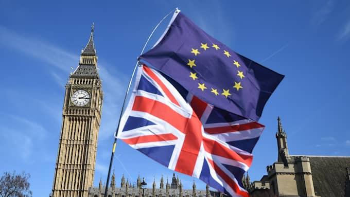 Nu inleds Brexit. Foto: FACUNDO ARRIZABALAGA / EPA / TT / EPA TT NYHETSBYRÅN