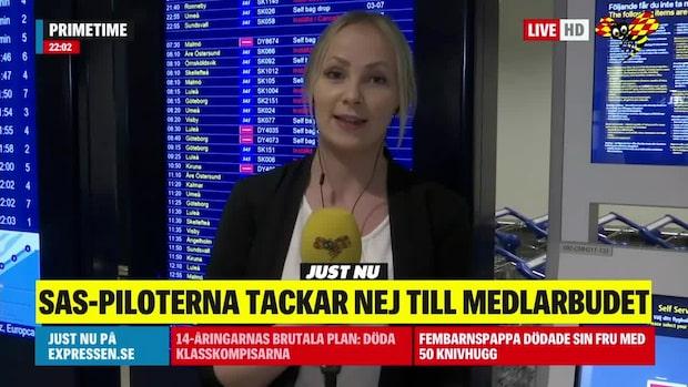 Hot om SAS-strejk - Expressen på plats på Arlanda
