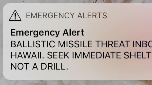 Hawaii varnade för missilangrepp – av misstag