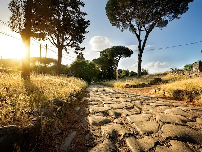 Flera av byggnaderna ligger längs med den berömda Via Appia.