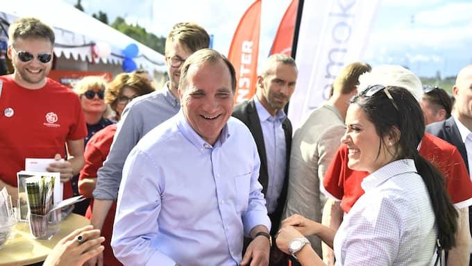 Stefan Löfven avslutar Politikerveckan i Järva. Foto: / SVEN LINDWALL