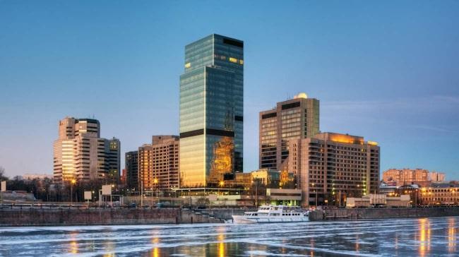 Installationen ska synas över Moskvas skyline under ett par timmar på torsdagskvällen.