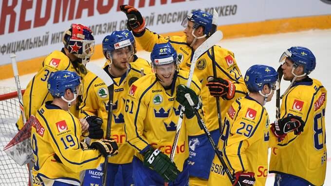 Tre Kronor spelar sina matcher i Göteborg. Foto: VLADIMIR FEDORENKO / SPUTNIK IBL