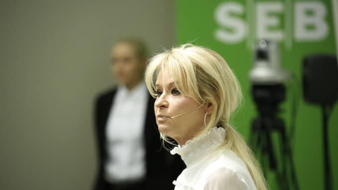 Annika Falkengren slutade formellt vid månadsskiftet juni/juli och har börjat på kapitalförvaltningsfirman Lombard Odier Group i Schweiz. Foto: CHRISTINE OLSSON/TT NYHETSBYRÅN / TT NYHETSBYRÅN