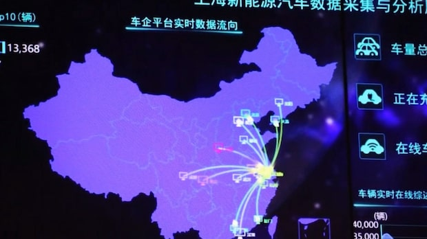Elbilar spåras av kinesiska myndigheter
