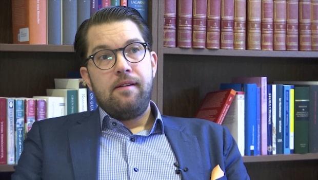 """Jimmie Åkesson (SD): """"Ligger en mandatperiod före i utvecklingen"""""""