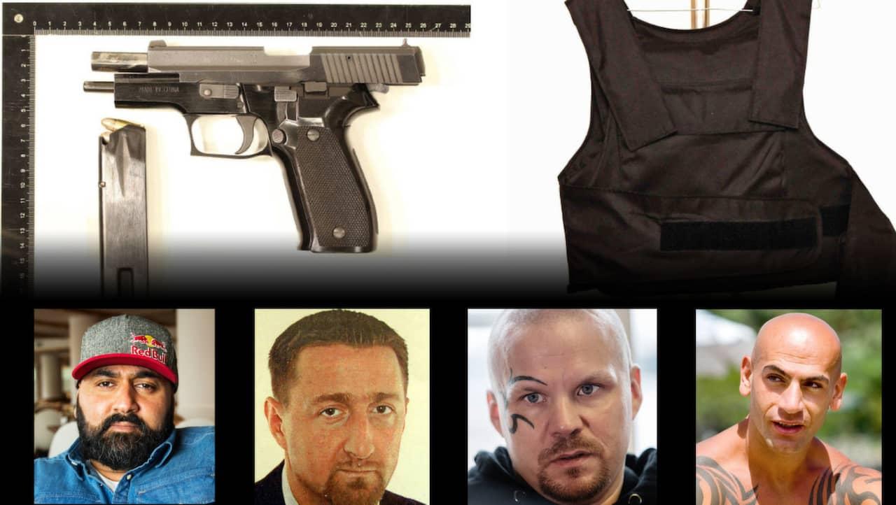 Fem gangmedlemmar haktade i uppsala