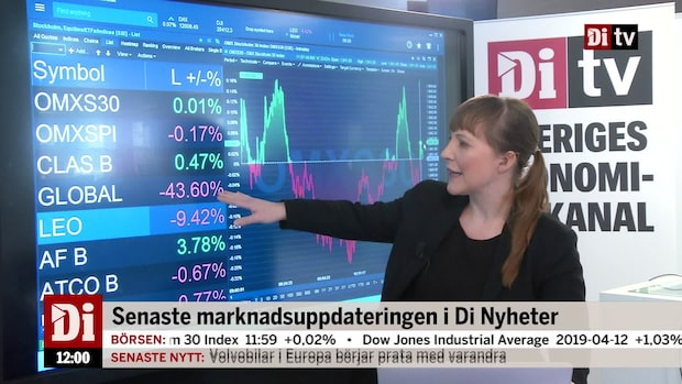 Nyheter 12.00: Spelsektorn ner efter vinstvarning