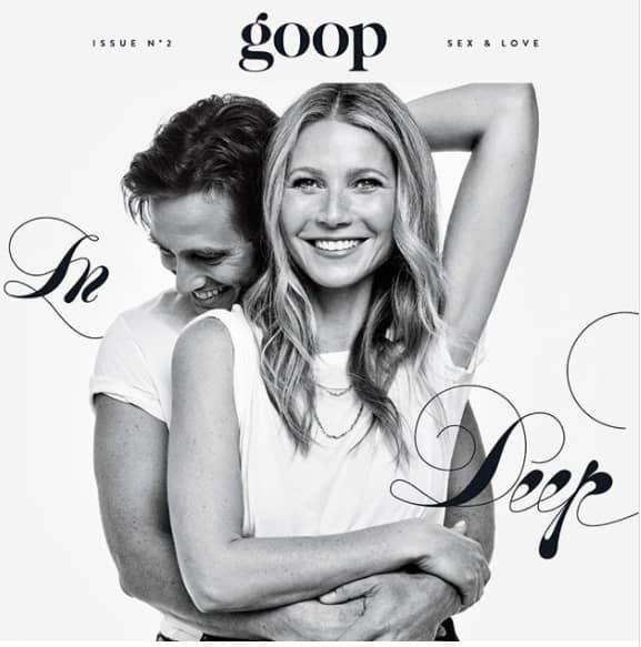 """Gwyneth paltrow med nya kärleken på omslaget av """"Goop"""". Foto: PRIVAT."""