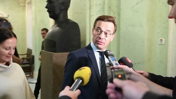 "Kristersson om mötet med Löfven: ""Trevligt"""