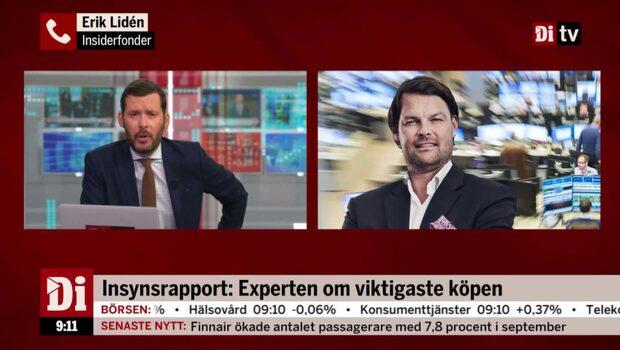 """Erik Lidén: """"En övervikt för köp inom insynshandeln"""""""