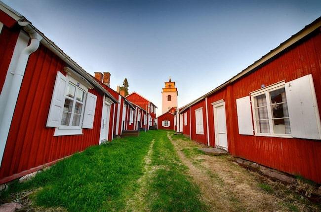 Gammelstads kyrkstad utanför Luleå är ett av Sveriges världsarv.