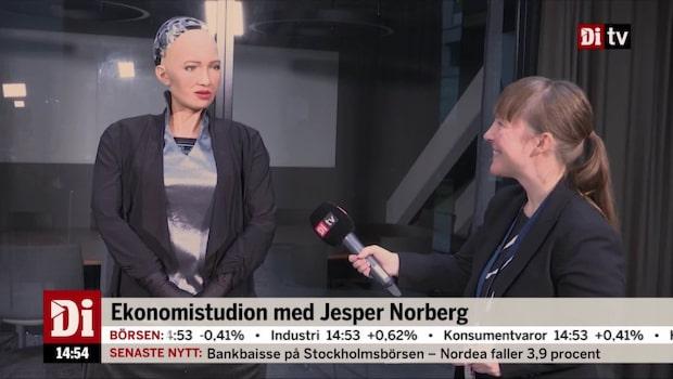 Malin Toverud om intervjun med roboten