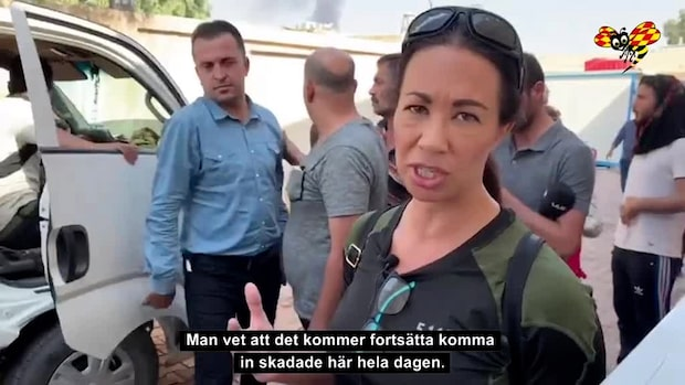 Civila offer strömmar in vid fronten