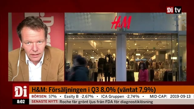 """Di:s analytiker om H&M:s försäljning för Q3 - """"det här är en bra siffra"""""""