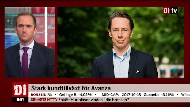 Avanzas vd Johan Prom om morgonens rapport