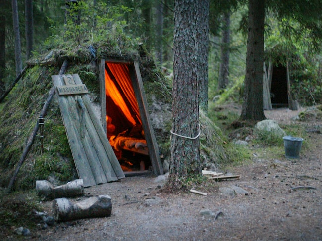 Kolarbyn, Sveriges mes primitiva vandrarhem.