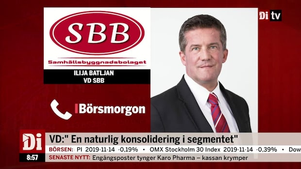 SBB lägger mångmiljardbud på Hemfosa  - premie 23%