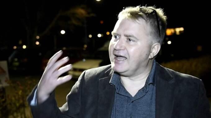 Försvarsexperten. Expressen avslöjade i går hur Sverigedemokraternas försvarspolitiske expert Mikael Valtersson i det dolda spridit nazipropaganda och kallat sig för Adolf Hitlers smeknamn. Foto: Sven Lindwall
