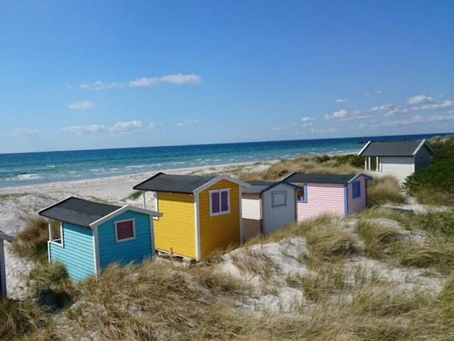 <span>Söta stugor vid stranden.</span>