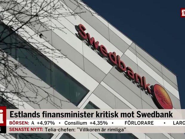 Estlands finansminister kritisk mot Swedbank