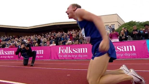 Kalle Berglund krossar det svenska rekordet