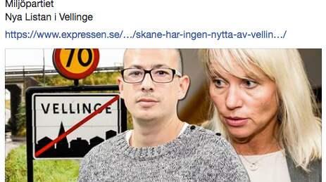 S och MP går till hård attack mot M i Vellinge - efter en Kvällsposten-krönika om försöken att förbjuda tiggeri i kommunen.
