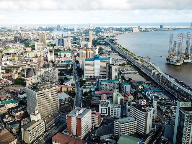 Onikan i Lagos, Nigeria kommer på tredje plats.