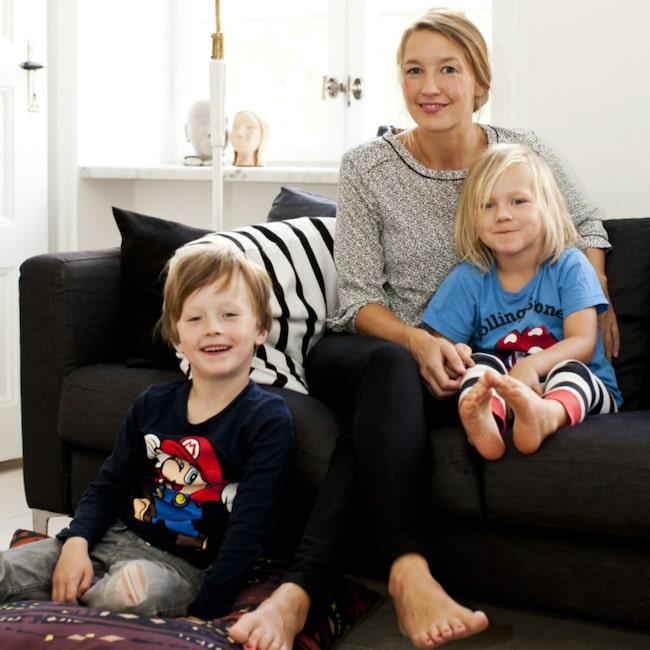 Familjen. Sigrid med sönerna Ernst och Sidner trivs i lägenheten i Malmö.